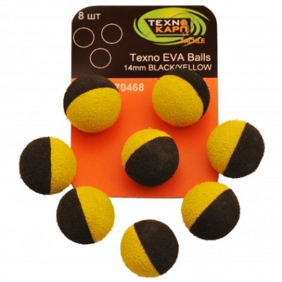 TEXNO KARP Eva Balls 14mm black/yellow