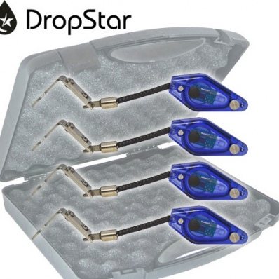 CARP SOUNDER Dropstar DR-LX2 Black Illuminated Hanger Set (4xBLUE)