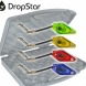 CARP SOUNDER Dropstar DR-LX2 Black Illuminated Hanger Set Green,Yellow,Red,Blue