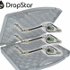 CARP SOUNDER Dropstar DR-LX2 Black Illuminated Hanger Set (3xCLEAR)