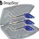 CARP SOUNDER Dropstar DR-LX2 Black Illuminated Hanger Set (3xBLUE)